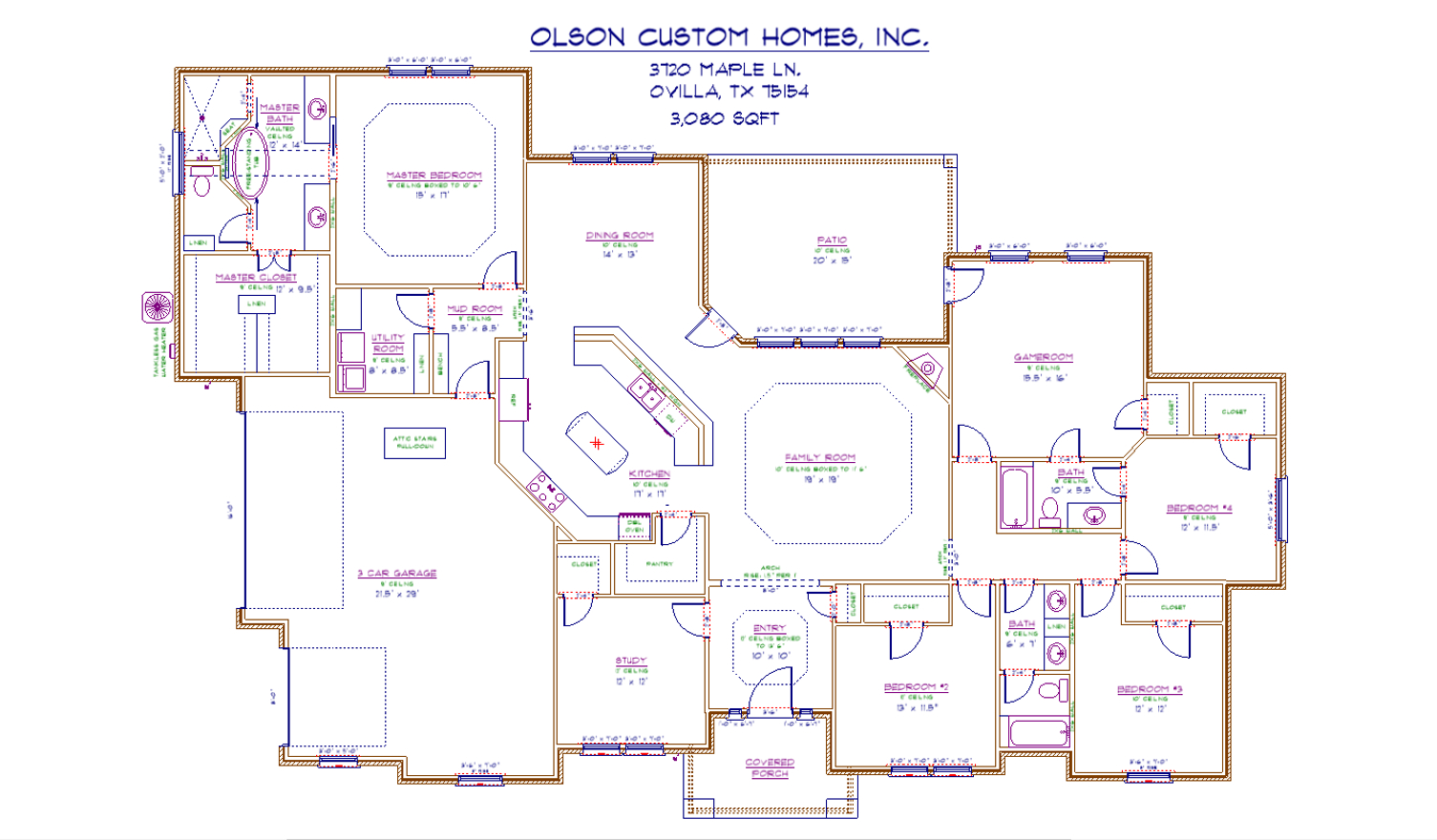 3720 Maple Ln - Port Floorplan